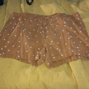 Old Navy Daisy Linen Shorts